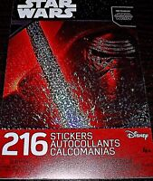 DISNEY STAR WARS THE FORCE AWAKENS 216 STICKERS IN ONE BOOK!