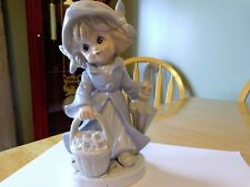 KPM PORCELAIN FIGURINE OF YOUNG GIRL MWITH FLOWER BASKET AND UMBRELLA