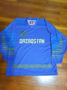 Kazakhstan Hockey Jersey. IIHF National kazakh ice shirt.  Size 50 Lutch