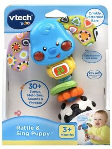 VTech Baby Rattle and Sing Puppy- Developmental Baby Toy (Brand New In Box)