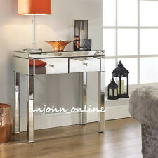 New Quality Mirrored Dressing Table Set Crystal 2 Drawers Vanity Table / Stool