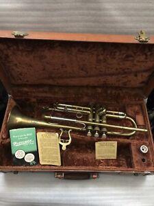 $ALE VINTAGE Buescher Bb Trumpet Model 207 Aristocrat &Orig Case Orig Mp Papers