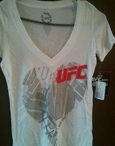 Womens UFC Octaheart Deep V-Neck T-Shirt