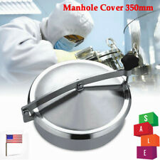 Usa Stainless Steel Oval Manhole Cover Sanitary Ss304 Tank Manway Door 350mm