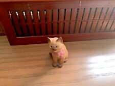 "Vtg Lenox 1994 Kitten with Pink Bow Figurine, 3.25"" Tall, Porcelain Cat Siamese"