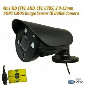 1PV 4in1 Security Bullet Camera 2.8-12mm Varifocal Lens IR Analog HD TVI AHD CVI