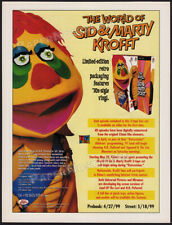 The World of SID & MARTY KROFFT__Orig. 1999 Trade Print AD/ advert__H R Pufnstuf