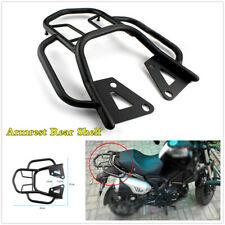 Motorcycle Armrest Rear Shelf Tool Box Tail Fin Luggage Rack Bracket Kit Black