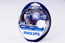 NEW PHILIPS H4 Racing Vision +150% Light Car Headlight Bulbs 12V, 55W (2Pcs)