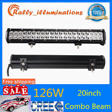 20inch 126W CREE LED Work Light Spot Flood Driving Truck Lamp SUV 10500LM 12V24V