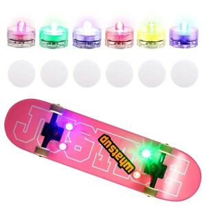 4 Board LED Underglow Adhesive Tape Lights for Skateboards, Longboards, Scooters