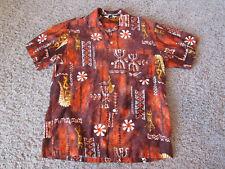 Vintage Mr Kailua Tiki print Hawaiian cotton shirt Hawaii small/medium