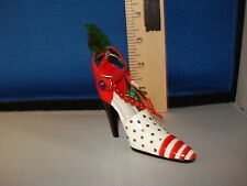 High Heels Ornament Red Shoe with Black Polka Dots TD1188R 60