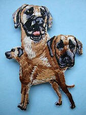 IRON-ON EMBROIDERED PATCH - GREAT DANE #2 - MONTAGE - DOG