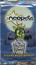 3x NEOPETS TCG Haunted Woods BOOSTER PACKS w/ code cards RARE!