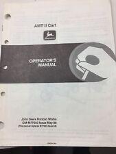 Vintage John Deere AMT II Cart Operators Manual ~ OM-M77683