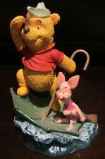 RARE Disney Piglet Winnie the Pooh Sailing Umbrella Friend Resin Figure Statue