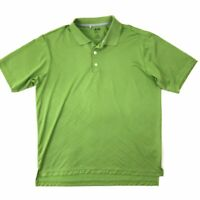 Adidas Golf Clima Cool Polo Shirt Large Short Sleeve Men's Green Solid Polyester