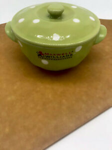 Maxwell Williams Sprinkle Lime Green & Polka Dot Mini Casserole Dish W/lid