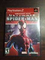Ultimate Spider-Man PS2 (Sony PlayStation 2, 2005) No Manual Tested Black Label