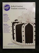 Wilton prêt à utiliser rolled fondant true black 8 pouces gâteau pâte 680g
