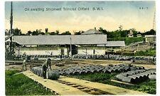 Trinidad BWI- OIL AWAITING SHIPMENT-TRINIDAD OILFIELD - Handcolored Postcard