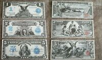 High quality COPIES with W/M United States Silver Notes 1896-1899 FREE SHIPPING!
