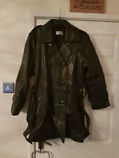 Stunning, Quality, Ladies, Size 14, Black, Real Leather, lined, Jacket Coat