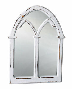 Gothic Window Wall Mirror Shabby Chic Fensterspiegel Gartenspiegel White