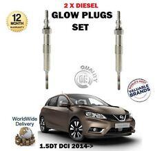 pour Nissan presse 1.5 DCI 2014- > NEUF 2 x Diesel Bougie de préchauffage SET
