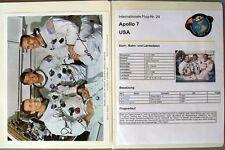 s1843) Raumfahrt Space Kosmos - Apollo 7 Sammlung mit Autogrammen Unterschriften
