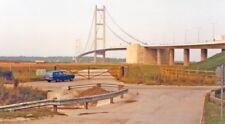 PHOTO  YORKSHIRE  HUMBER BRIDGE FROM BARTON WATERSIDE 1983