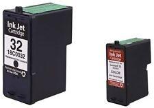 2PK  Ink Cartridge for Lexmark X8350 X5470 X7170 # 32 #33 18C0032 18C0033