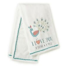 """Levtex Baby FIONA Peacock Plush Blanket """"Bushel and a Peck""""  New with Tags"""