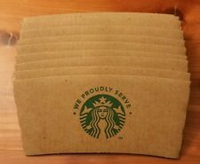 Lot Of 10 Starbucks Drink Sleeves Holders Corrugated  Great For Crafts!