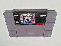 Champions World Class Soccer (Super Nintendo SNES) Game Cartridge Vr Nice!
