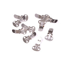 10Pieces Blank Stainless Steel Shoe Clips Clip onFindings for Wedding Craf Rx