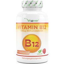 Vitamin B12 1000 mcg - 365 Lutschtabletten Himbeergeschmack - Methylcobalamin