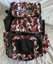 Boombah  bat bag Baseball Softball Big Gear Bag Pixel Camo Red