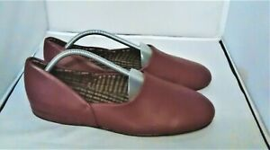 Group 5 Men's Real Leather Slippers Leather Soles Size UK 10