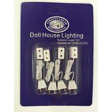 4 x Single Sockets and Flex For Dolls House Lighting DE071
