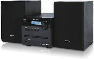 DAB Micro HiFi System FM Radio Bluetooth CD USB AUX MP3 Audio System Black 40W