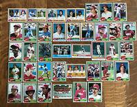 1981 PHILADELPHIA PHILLIES TOPPS Complete MLB Set 38 Cards ROSE SCHMIDT CARLTON!
