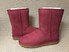 UGG Classic Short II Garnet Water-resistant Suede Boots Size US 11 Womens