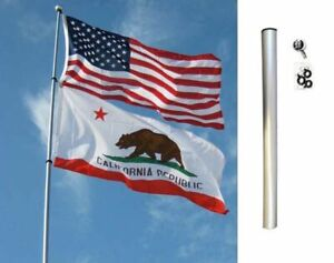 24FT FIBERGLASS TELESCOPING FLAG POLE, 1 MOUNT OF CHOICE & OPTIONAL FLAG(S)