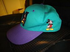 Vintage Walt Disney's Mickey Mouse Snap-Back Cap Hat Mickey Unlimited Fresh Caps