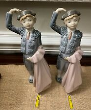 "Retired Lladro Boy Bullfighter Matador Porcelain Figurines 9.6"" -sold separately"