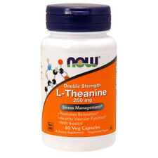 L-Theanine Double Strength, 200mg x 60 Veg Capsules - NOW Foods