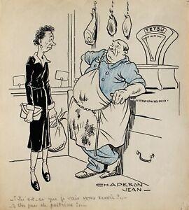 Jean chaperon, Drawing, Funny, Erotica, Woman, Naked Cartoon Caricature