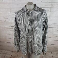 Eddie Bauer Mens Shirt  black white Cotton long sleeve SZ.L i03